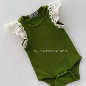 olive winged suit